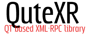 QuteXR: QT based XML-RPC library
